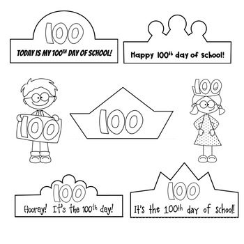 100th Day of School Printable Crowns