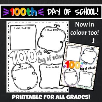 days of school activities for preschool 100th day of school printable freebie by naturally 100