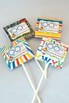 100th Day of School Printable Lollipop Covers