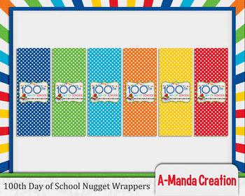 100th Day of School Printable Nugget Wrappers