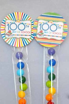 100th Day of School Printable Party Circles