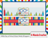 100th Day of School Printable Water Bottle Wrappers
