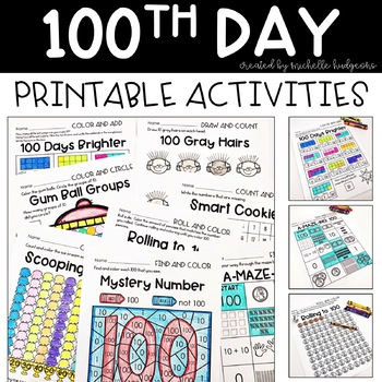 100th Day of School Activities | 100th Day Printable Activities