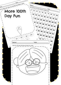 100th Day of School Printables & Activities