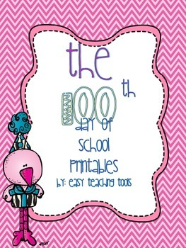 100th Day of School Printables and Activities