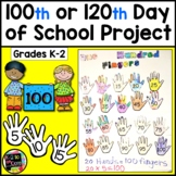 100th Day of School Project; 120th Day of School Project: Skip-Counting Fingers