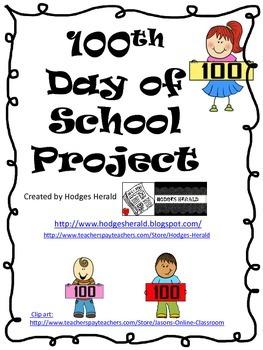 100th Day of School Project (FREEBIE)
