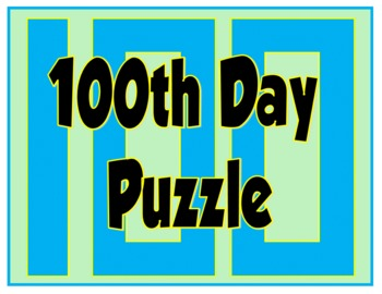 100th Day of School Puzzle