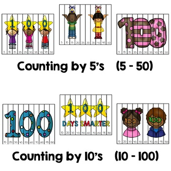 100th Day of School Puzzles