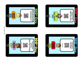 100th Day of School QR Codes