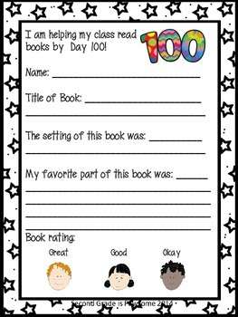 100th Day of School Reading Challenge