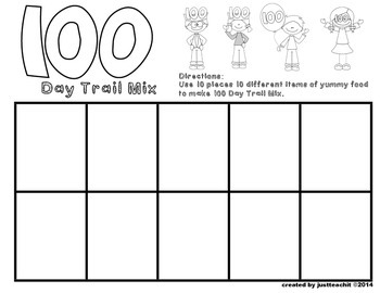 100th Day of School Scavenger Hunt and Book