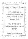 100th Day of School Science Activity - What Falls Faster?