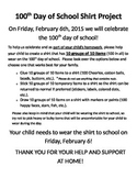 100th Day of School Shirt Project