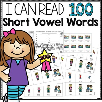 100th Day of School Short Vowel Game