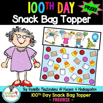 100th Day of School Snack Bag Mix Topper FREEBIE