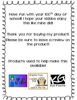 100th Day of School Snack Fun!