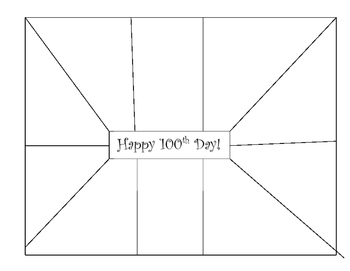 100th Day of School Snack Mat