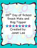 100th Day of School Snack Mats and Bag Topper