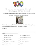 100th Day of School Snack Sign Up Sheet