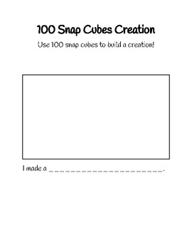 100th Day of School Snap Cube Creation