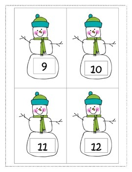 100th Day of School Snowman Hunt