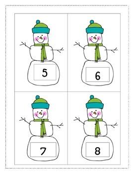 100th Day of School Snowman Hunt