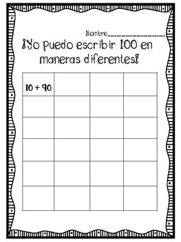 100th Day of School Spanish