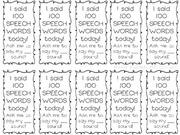 100th Day of School Speech Therapy Freebie