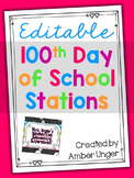 100th Day of School Stations Pack