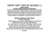 100th Day of School Stations & Task Cards