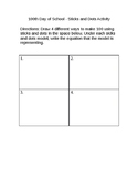 100th Day of School- Sticks and Dots Activity