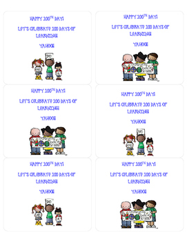 100th Day of School Student Tags Freebie!