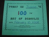 100th Day of School Theme Book