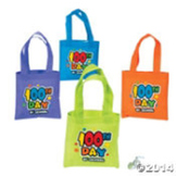100th Day of School Tote Bags