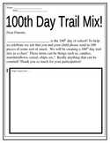 100th Day of School Trail Mix