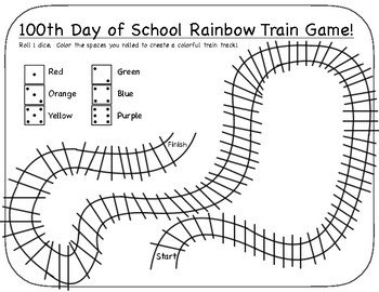 100th Day of School Train Game