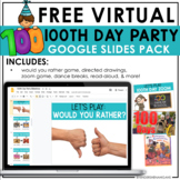 100th Day of School   Virtual FREEBIE