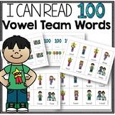 100 Days of School Vowel Team Game