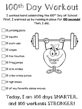 100th Day of School Workout