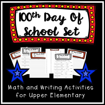 100th and 1000th Day of School Math Exponents Powers of Ten and Writing
