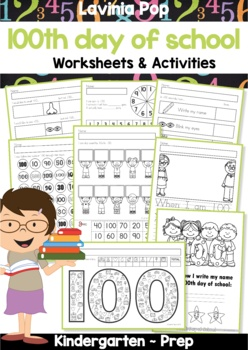 100th Day of School Worksheets and Activities No Prep