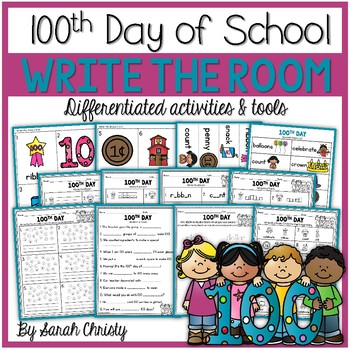 100th Day of School- Write the Room
