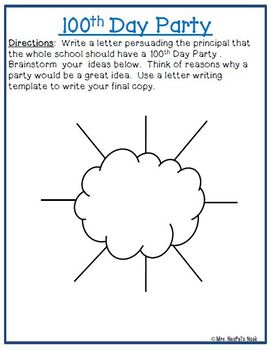 100th Day of School Writing Activities