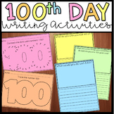 100th Day of School Writing Activities and Fine Motor Practice