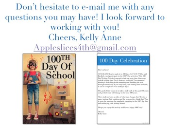 100th Day of School Writing Activity
