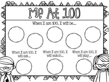 100th Day of School Writing Activity {Me at 100!}