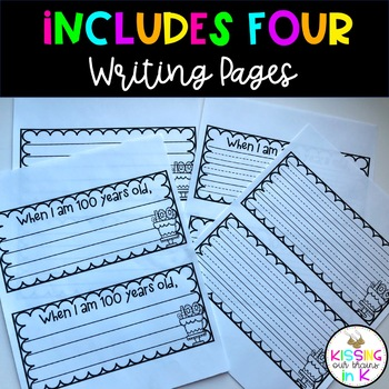 100th Day of School Writing Craftivity- Craft & Writing Prompt