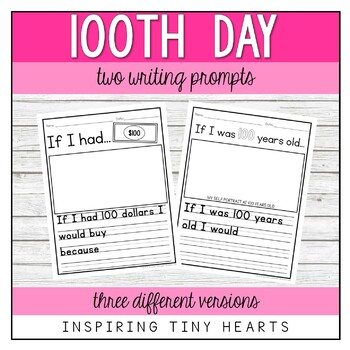 100th Day of School Writing Prompt