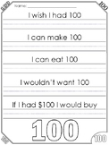 100th Day of School Writing Prompt & Worksheets